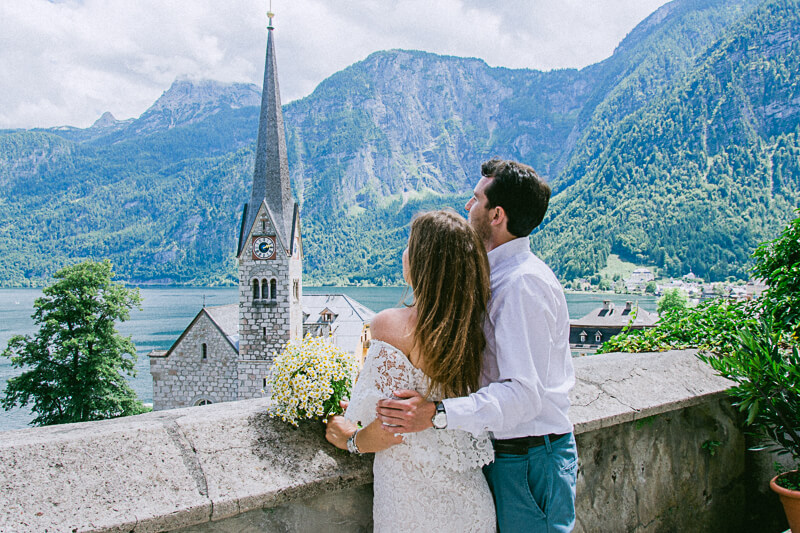 Engagement Pictures after surprise proposal Hallstatt Austria