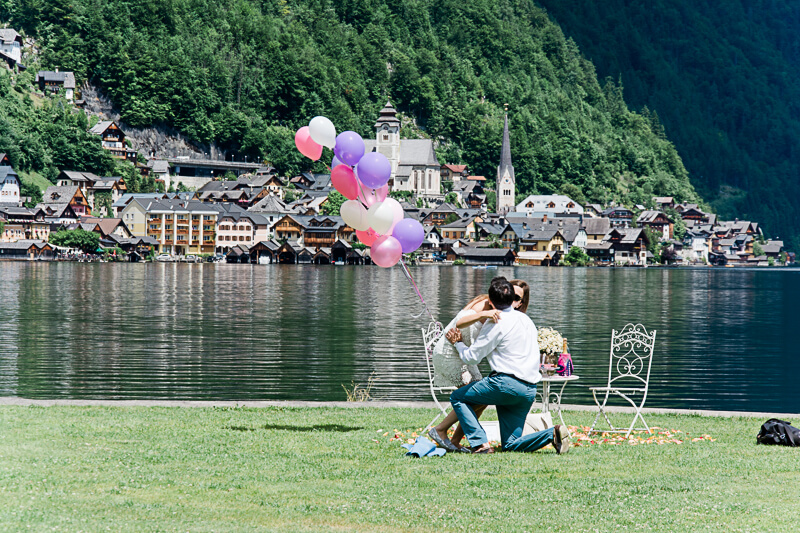 Surprise Proposal Hallstatt Austria